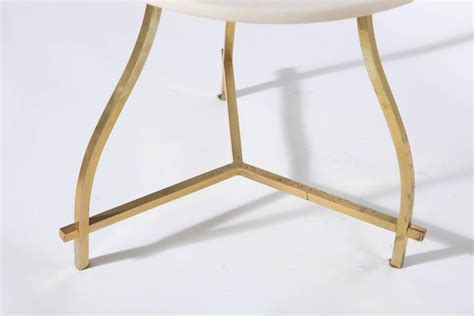 floor l table combination 1950s white marble brass white candelabra combination