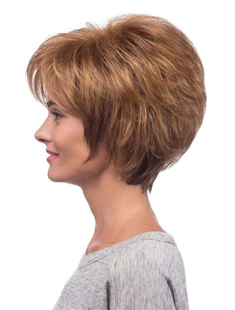 layered chin length  inches synthetic wigs hair
