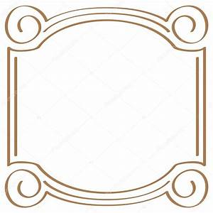 Vector square simple frame for design — Stock Vector ...
