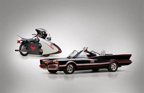 Original Batmobile Autographed By kustom king 66 chevrolet batmobile yamaha batcycle