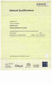 my curriculum vitae gcse certificate edexcel level 2 With gcse certificate template