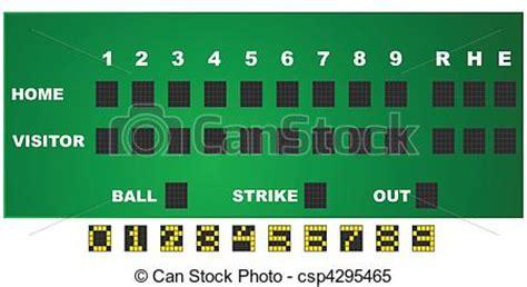 baseball scoreboard clipart  clip art