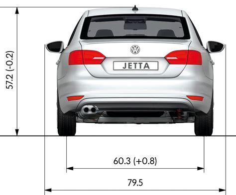 2011 Volkswagen Jetta Rear Dimensions