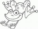 Coloring Frog Jumping Printable Popular sketch template