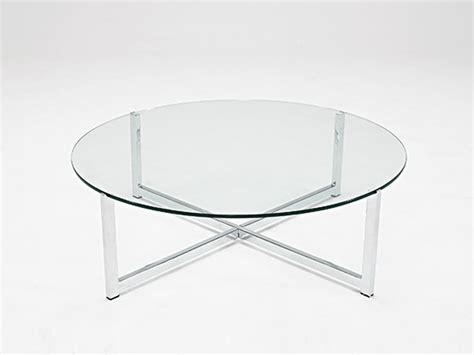 Collection Of Small Glass Round Coffee Tables