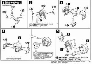 Frame Arms Girl Stylet English Manual  Color Guide  U0026 Paint