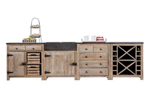 meuble cuisine independant bois meubles de cuisine dessus bleue