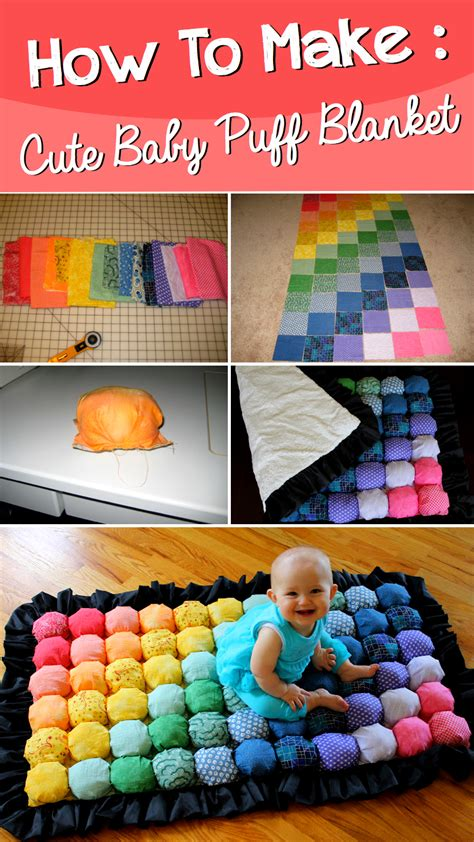 how to make a how to make a baby puff blanket diy projects