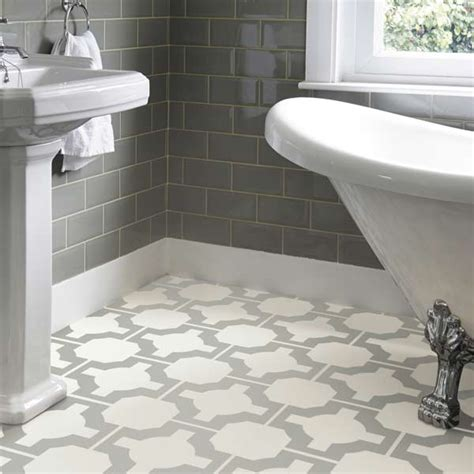 Bathroom Flooring  Bathroom Vinyl Floor Tiles Home Decor