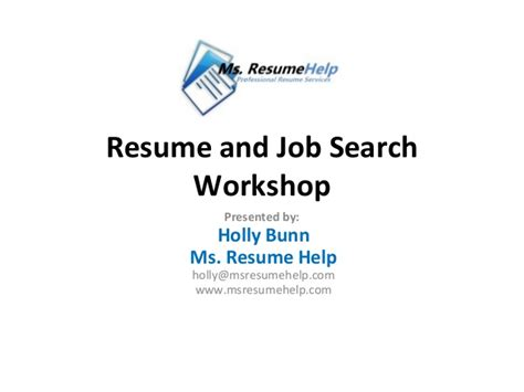 Resume Writing Workshop Ideas by Resume Writing And Search Tips