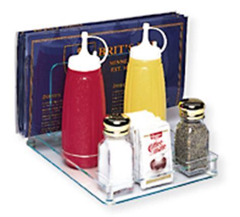 restaurant condiment caddy  menu holder countertop