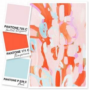 Pale Pink, Orange, and Blue Color Palette - Sarah Hearts