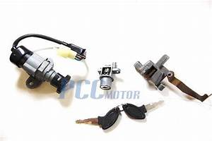 Ignition Switch Key Set Moped Chinese Scooter Yy50qt5 Znen