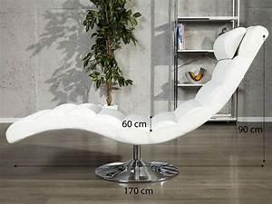 fauteuil design relax blanc clara en pvc de haute qualite With fauteuil design relax