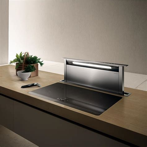 hote cuisine elica hotte escamotable adagio pour plan de travail