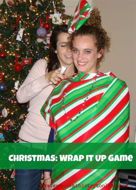 christmas wrap   game christmas party themes