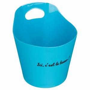 Paniere A Linge Plastique : panier de rangement plastique rond 14cm bleu ~ Dailycaller-alerts.com Idées de Décoration