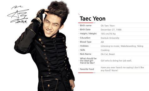 Profile Taecyeon Indonesia