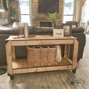 DIY Console Table and YouTube Video! - Shanty 2 Chic