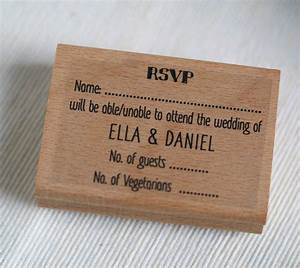 Rsvp personalised wedding stamp by pretty rubber stamps for Wedding rsvp cards stamps
