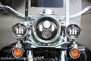 Quot round led passing auxiliary lights lamps for harley