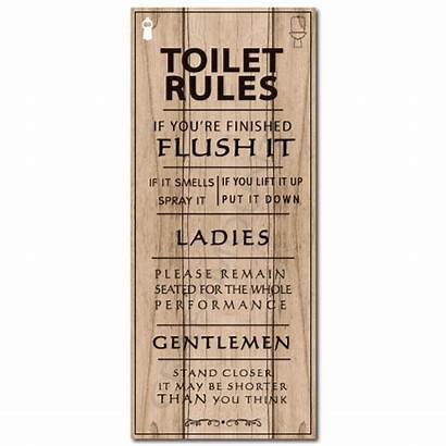 Rules Toilet