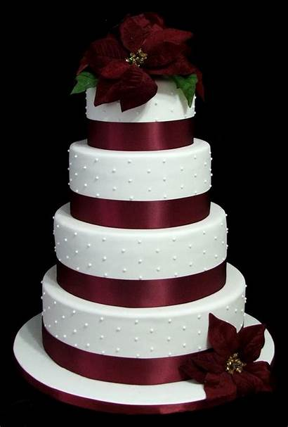 Cakes Cake Christmas Burgundy Themed Winter Traditional