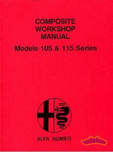 Alfa Romeo Shop Manual Service Repair Book Spider Gtv 2000 1750 Giulia 105 1300