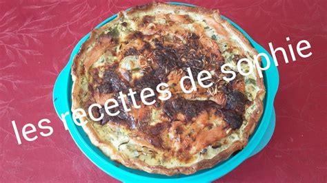recette tarte au saumon fum 233 et poireaux sur les recettes