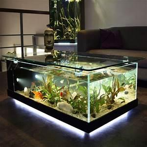 Table Basse Aquarium Poisson D U0026 39 Or
