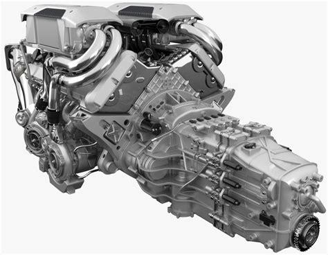 Bugatti Chiron Engine by 3d Bugatti Chiron Engine Model Turbosquid 1217464
