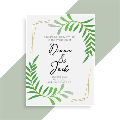 wedding invitation card elegant design Download Free