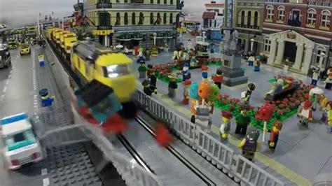 Lego Train Crashes In Slow Motion