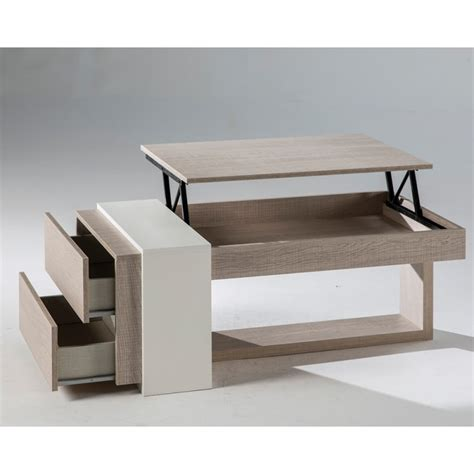table basse relevable but table basse relevable ch 234 ne clair 2 tiroirs esteban univers salon