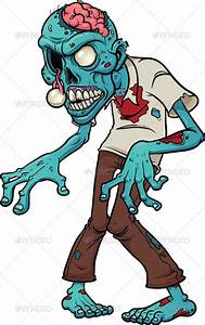 Cartoon Zombie ... blue, brain, cartoon, character ...