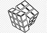 Cube Coloring Clip Colouring Rubik Rubiks sketch template