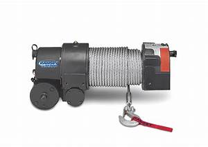 Re 12 000 12 Volt Electric Worm Gear Winch With Roller