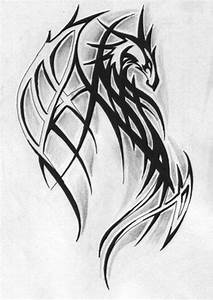 52+ Latest Tribal Dragon Tattoos Designs