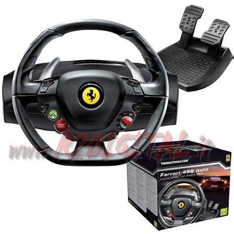 volante e pedaliera pc volante pedali thrustmaster 458 pc xbox pedaliera