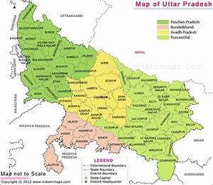 Uttar Pradesh Map | state maps | Pinterest | India, India ...