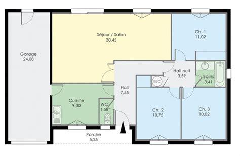 plan de maison gratuit 3 chambres plan dune maison de trois chambres