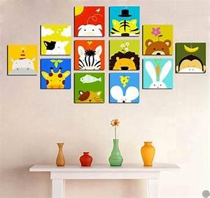 Tableau Chambre Enfant : tableaux animaux funny animals ~ Teatrodelosmanantiales.com Idées de Décoration