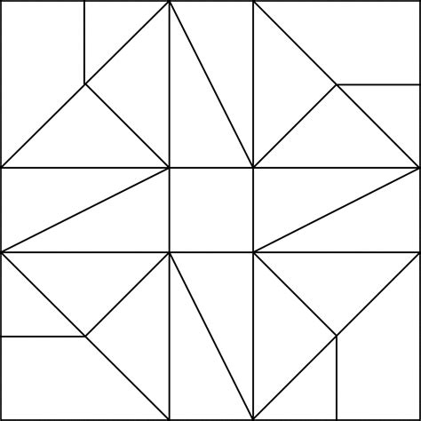 Printable Quilt Patterns Coloring Pages