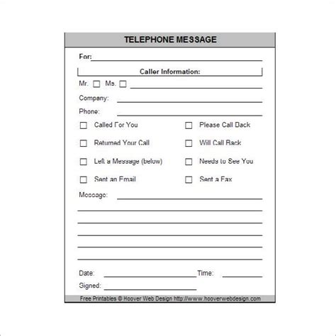 printable phone message phone messages   office