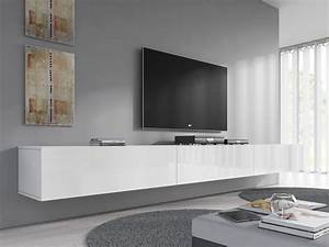 Schiebegardine 300 Cm Lang : tv meubel flame wit 300 cm meubella ~ Markanthonyermac.com Haus und Dekorationen
