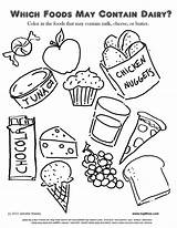 Coloring Pages Dessert Print sketch template