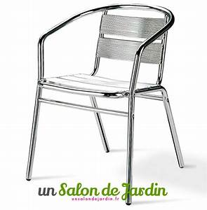 Chaise De Jardin Aluminium : chaise jardin aluminium un salon de jardin 26 07 2018 ~ Teatrodelosmanantiales.com Idées de Décoration