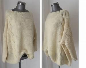 Chunky Wolle Xxl : kastiger pulli pullover oversized wollweiss mohair pulli ~ Watch28wear.com Haus und Dekorationen
