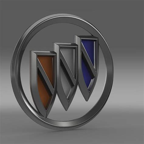 New Buick Logo by Buick New Logo 3d Model Cgtrader