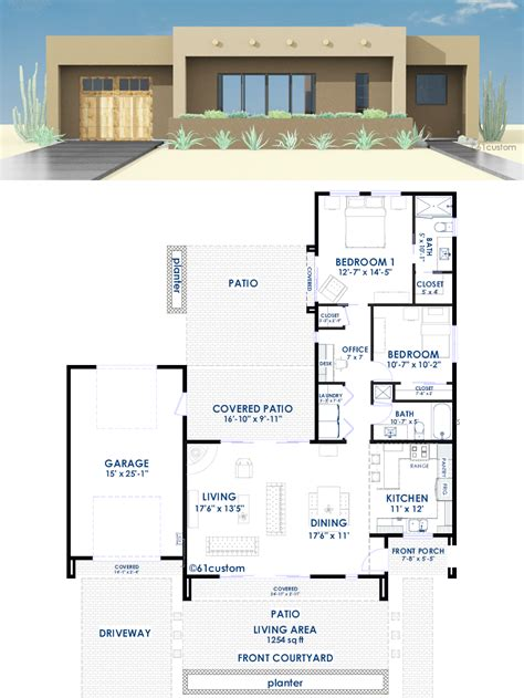 modern contemporary house plans contemporary adobe house plan 61custom contemporary